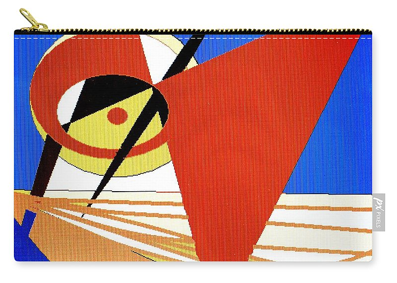 Boat Carry-all Pouch featuring the digital art Red Sails In The Sunset by Ian MacDonald
