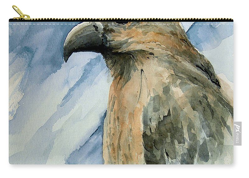 Bird Carry-all Pouch featuring the painting Red by Sam Sidders