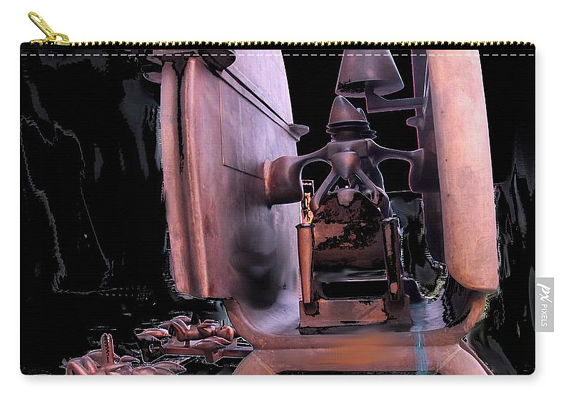 Abstract Carry-all Pouch featuring the photograph Red Sculpture by Ian MacDonald