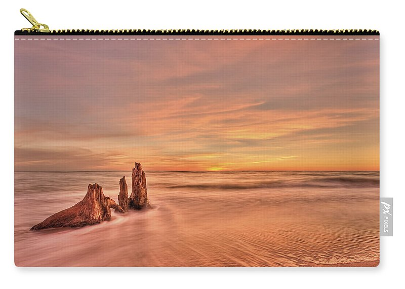 Sunset Carry-all Pouch featuring the photograph Red Sensation by Evelina Kremsdorf