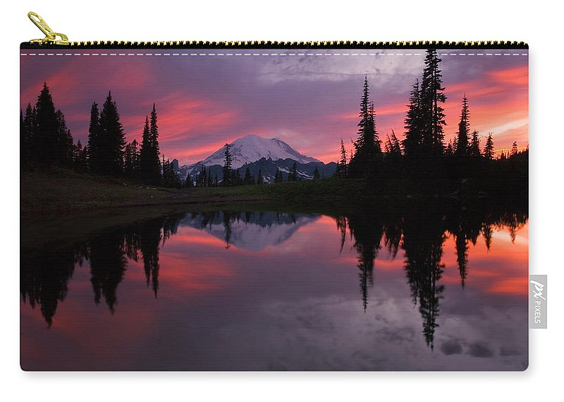 Rainier Carry-all Pouch featuring the photograph Red Sky at Night by Mike Dawson