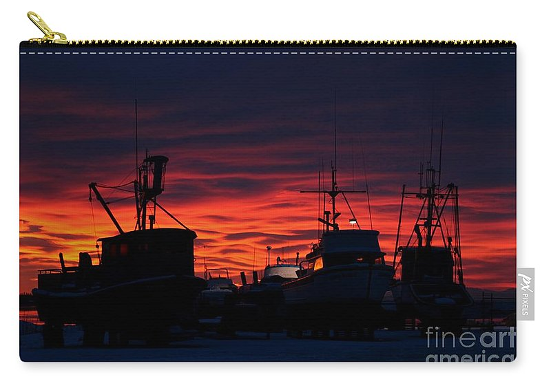 Sunset Carry-all Pouch featuring the photograph Red Sky At Night by Rick Monyahan