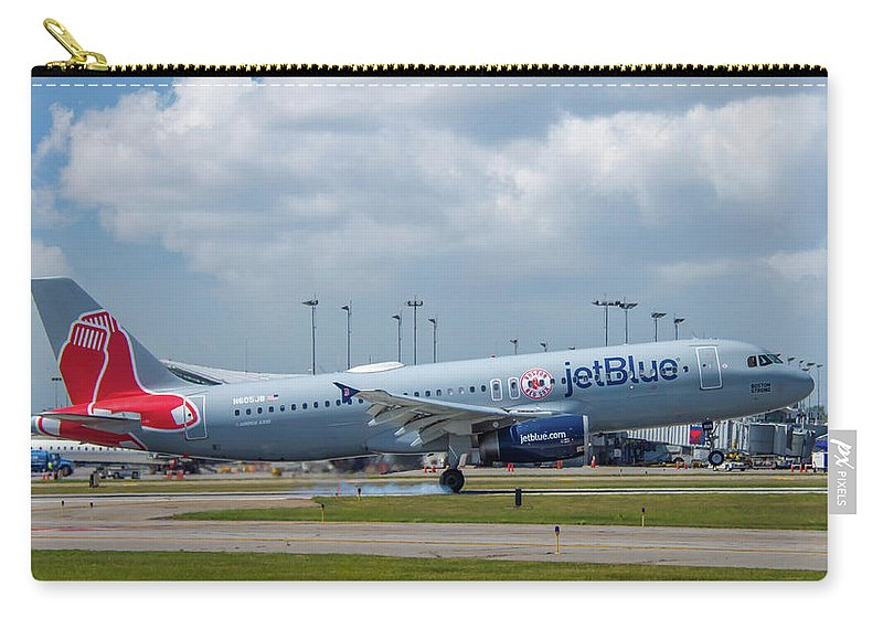 Air Travel Carry-all Pouch featuring the photograph Red Sox In Buffalo by Guy Whiteley