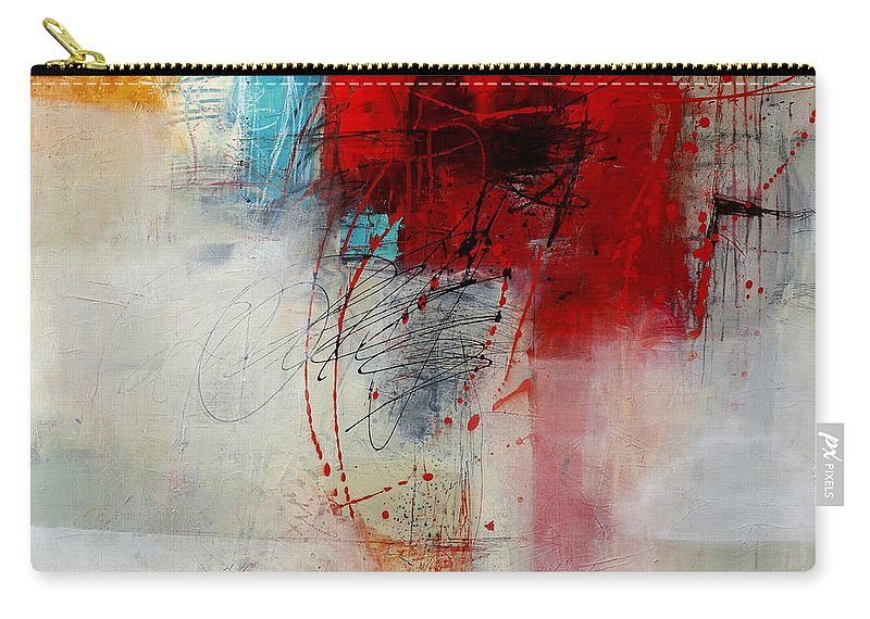 Abstract Art Carry-all Pouch featuring the painting Red Splash 1 by Jane Davies