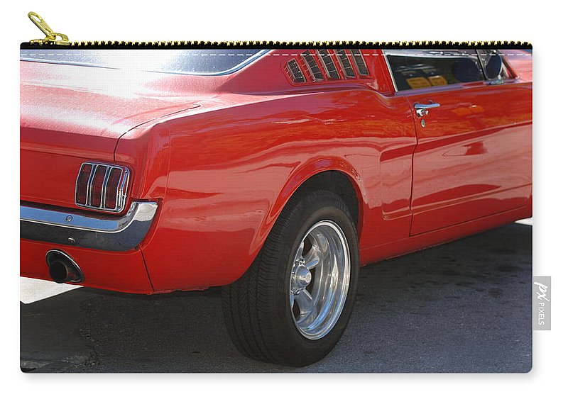 Ford Carry-all Pouch featuring the photograph Red Stang by Rob Hans