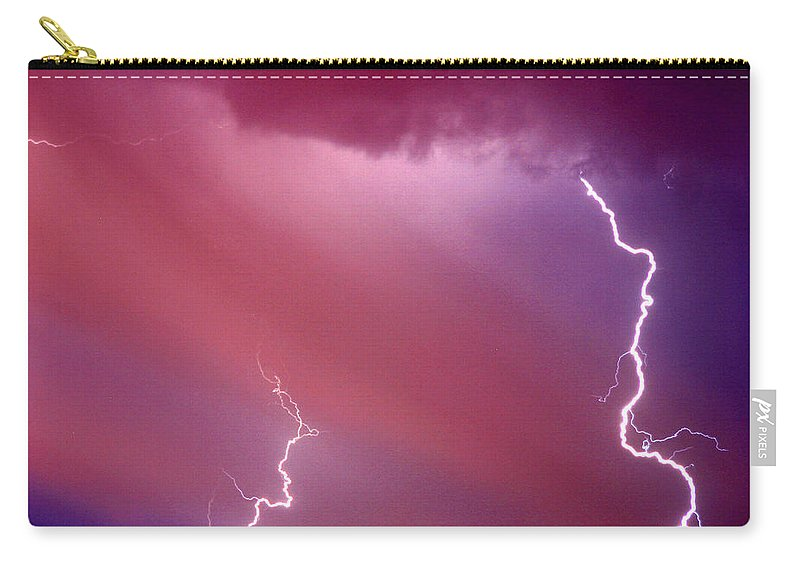 Sky Carry-all Pouch featuring the photograph Red Storm by Anthony Jones