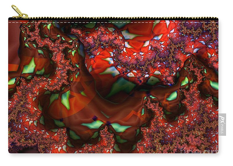 Berry Carry-all Pouch featuring the digital art Red Thread by Ron Bissett