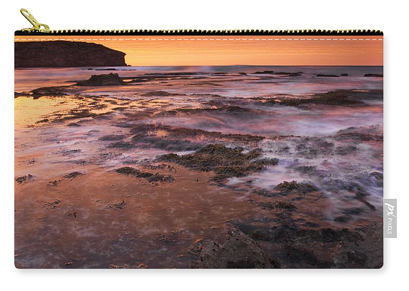 Sunrise Carry-all Pouch featuring the photograph Red Tides by Mike Dawson