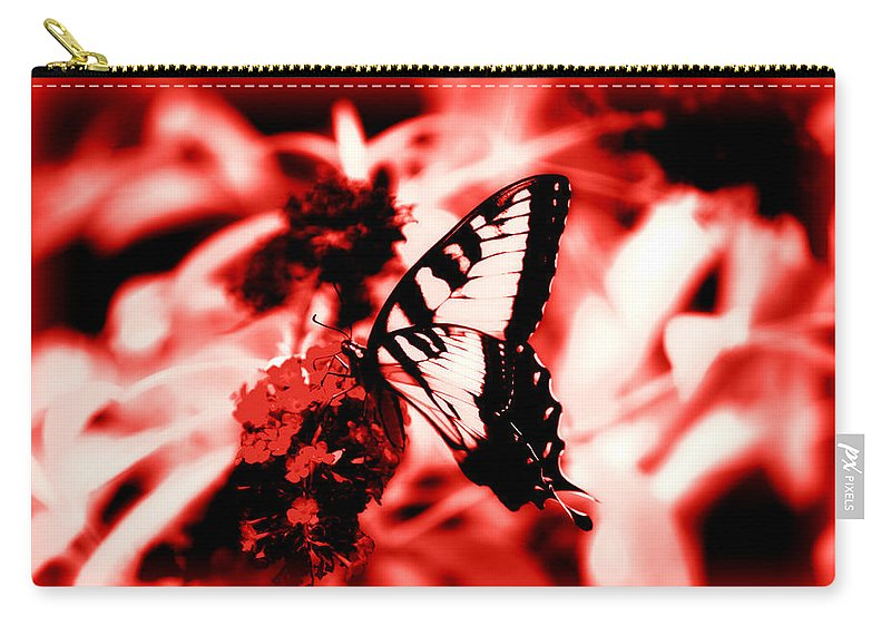 Red Carry-all Pouch featuring the photograph Red by Tina Meador