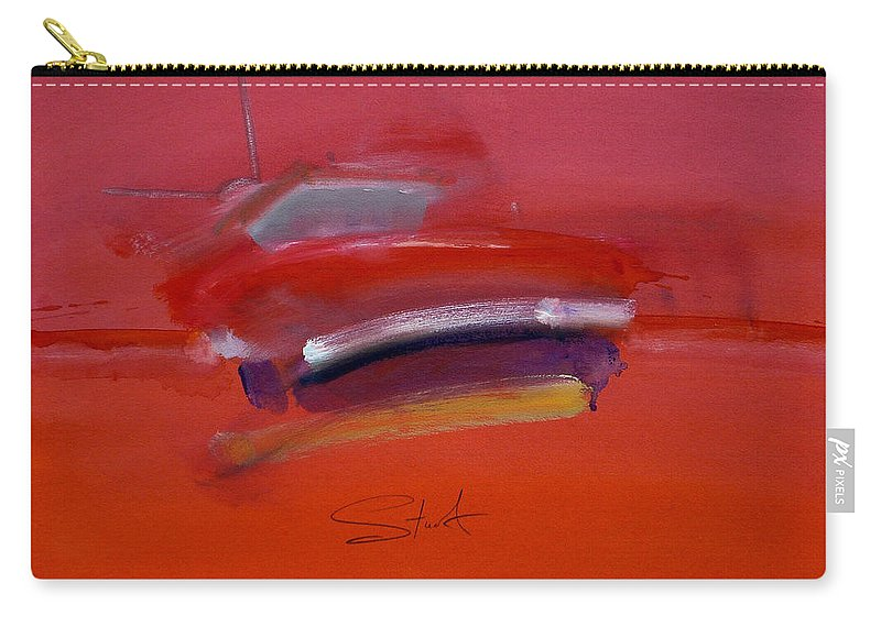 Fishing Boats Carry-all Pouch featuring the painting Red Trawler by Charles Stuart