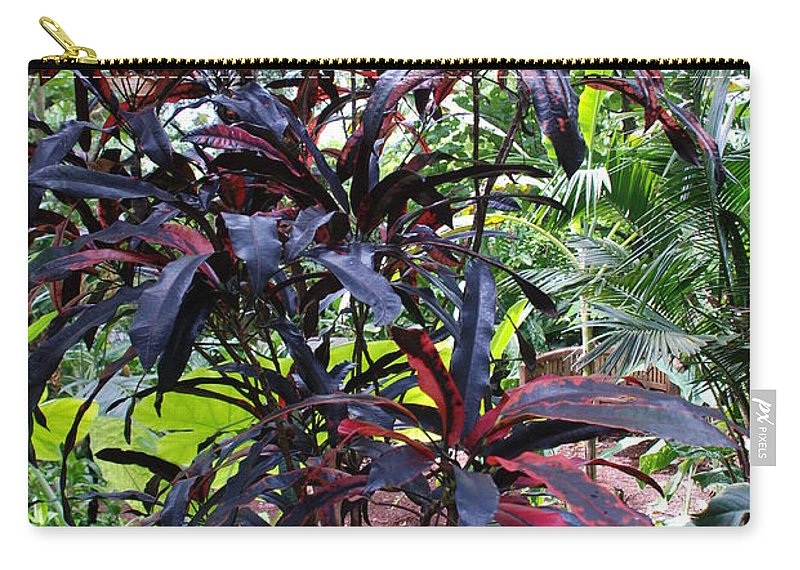 Red Carry-all Pouch featuring the photograph Red Trees by Rob Hans
