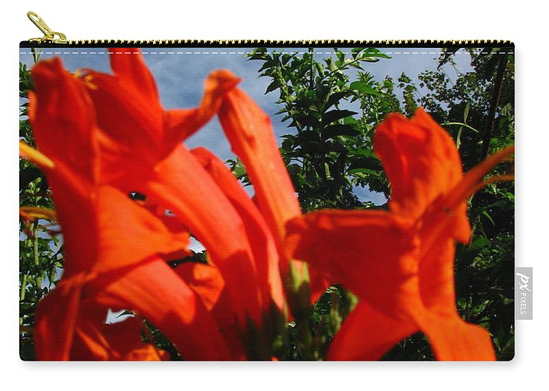 Patzer Carry-all Pouch featuring the photograph Red Trumpeter by Greg Patzer