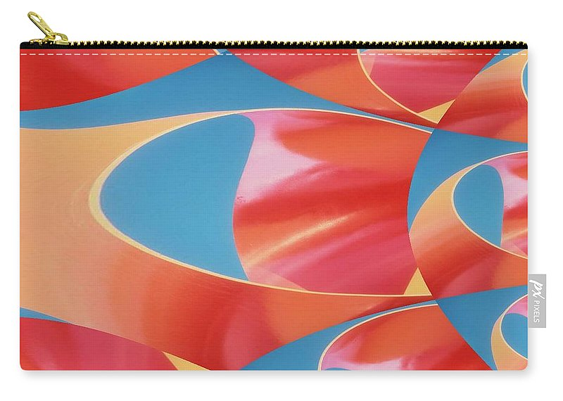 Tubes Carry-all Pouch featuring the digital art Red Tubes by Tim Allen