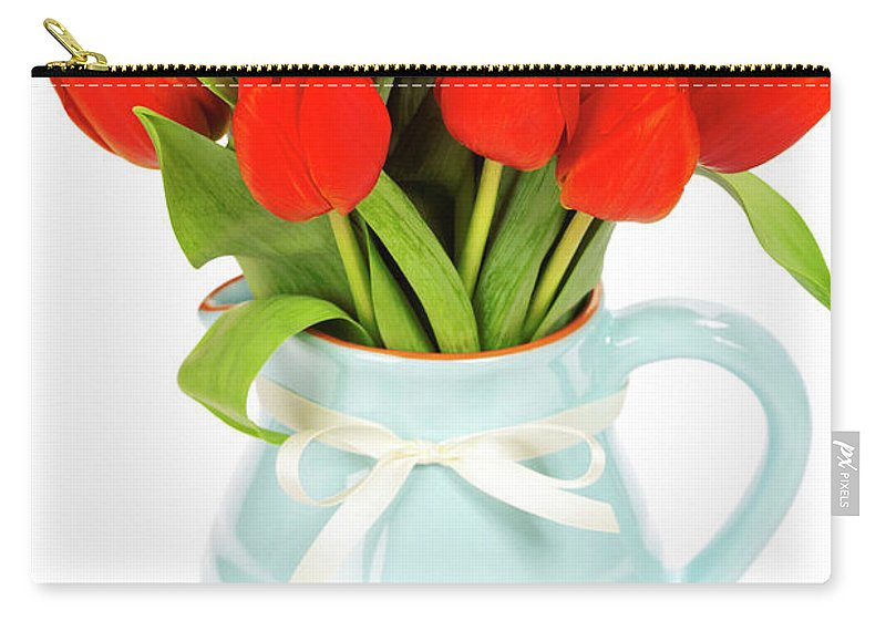 Beauty Carry-all Pouch featuring the photograph Red Tulips by Natalia Klenova