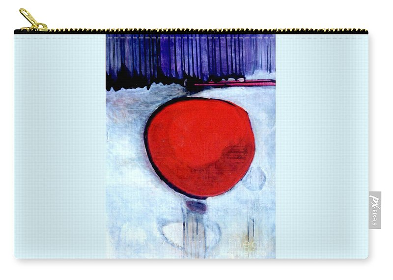 Red Carry-all Pouch featuring the painting Red Twin Jump Start by Marlene Burns
