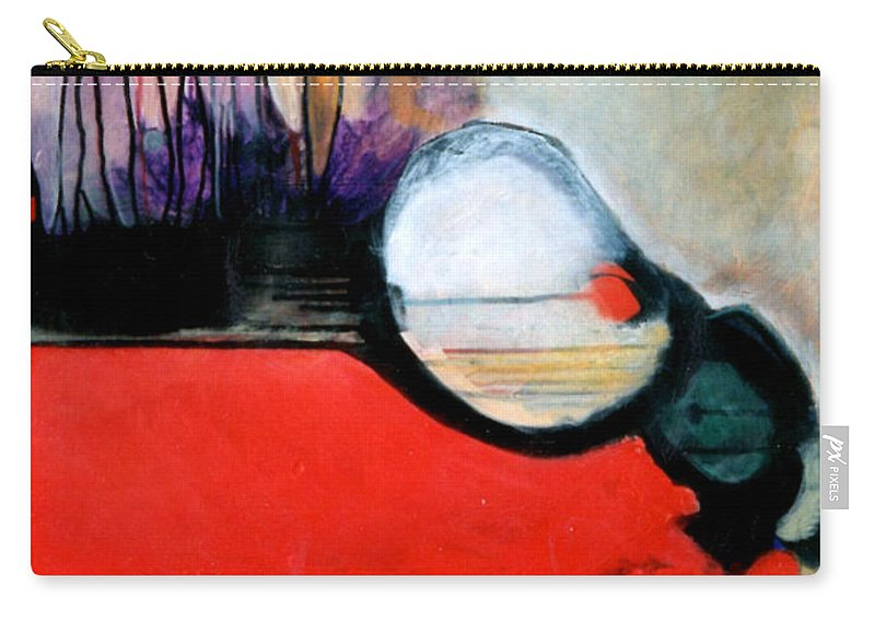 Abstract Carry-all Pouch featuring the painting Red Twin Leaps And Bounds by Marlene Burns
