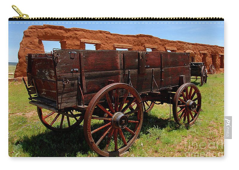 Fine Art Photography Carry-all Pouch featuring the photograph Red Wagon by David Lee Thompson