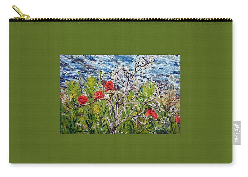 Landscape Carry-all Pouch featuring the painting Red-weed - All by Pablo de Choros