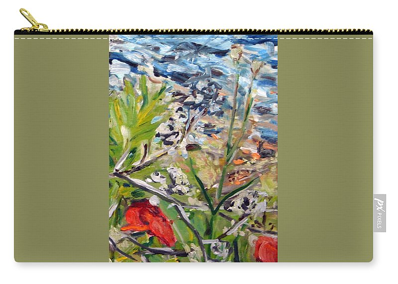 Landscape Carry-all Pouch featuring the painting Red-weed - Detail 2 by Pablo de Choros