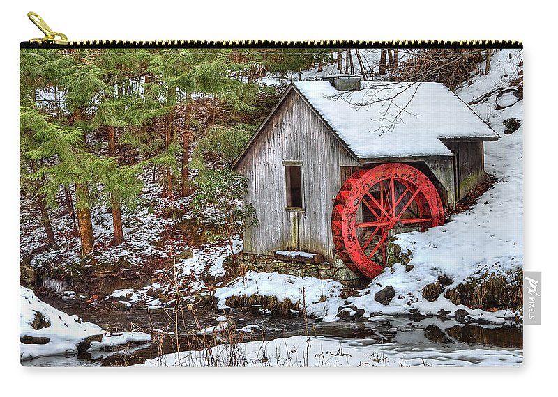 Cold Carry-all Pouch featuring the photograph Red Wheel by Evelina Kremsdorf