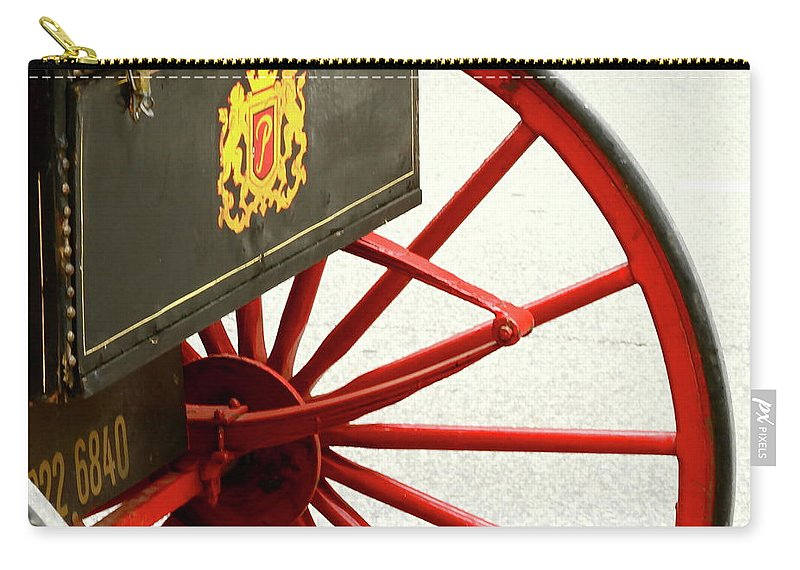 Wheel Carry-all Pouch featuring the photograph Red Wheel by Rick Monyahan