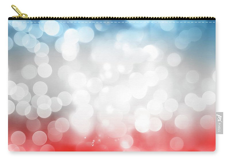 Abstract Carry-all Pouch featuring the photograph Red White And Blue by Les Cunliffe