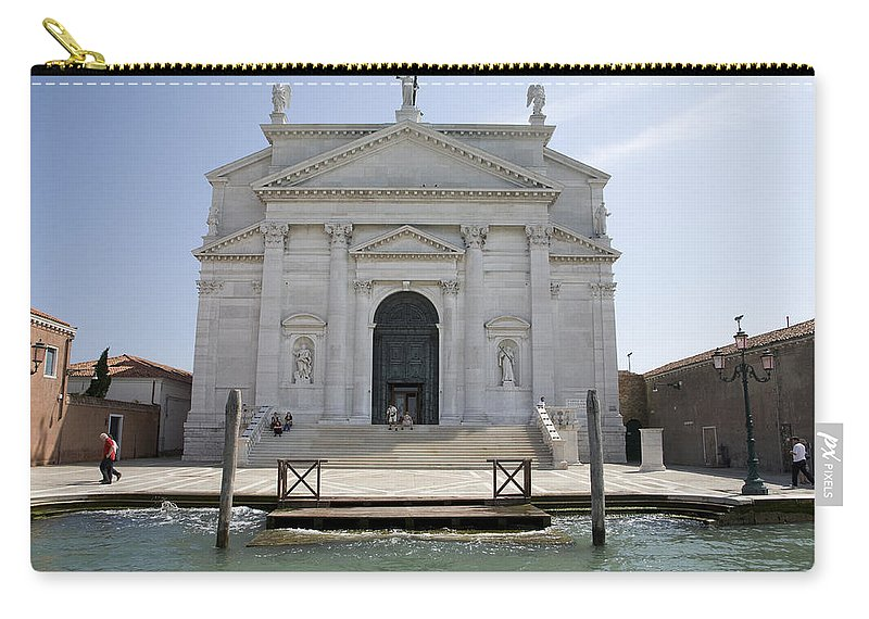 Redentore Carry-all Pouch featuring the photograph Redentore Church In Venice by Ian Middleton