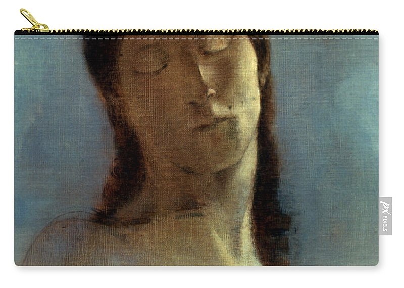 1890 Carry-all Pouch featuring the photograph Redon: Closed Eyes, 1890 by Granger