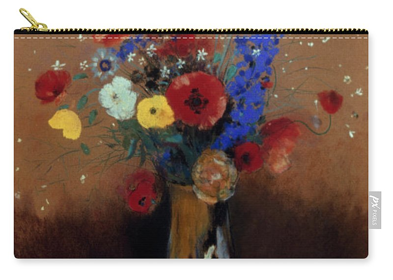 1912 Carry-all Pouch featuring the photograph Redon: Wild Flowers, C1912 by Granger