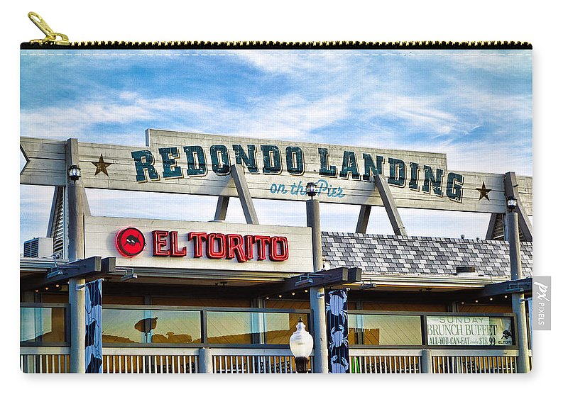Redondo Beach Carry-all Pouch featuring the photograph Redondo Beach Pier Closeup by Robert Meyers-Lussier