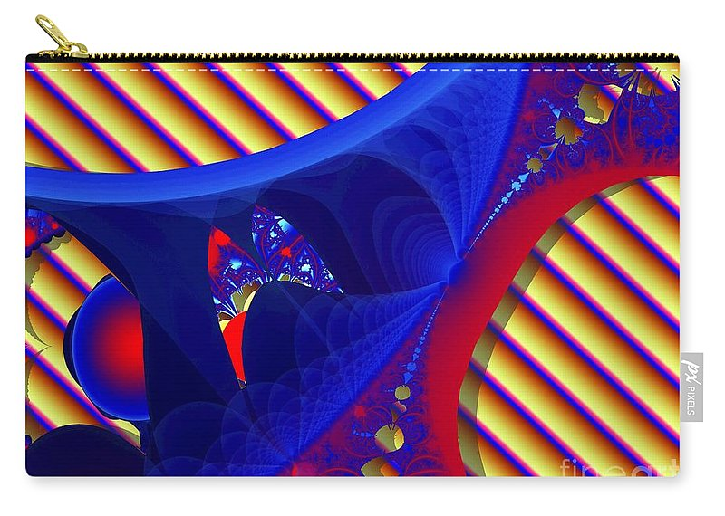 Fractal Image Carry-all Pouch featuring the digital art Reds And Blues by Ron Bissett