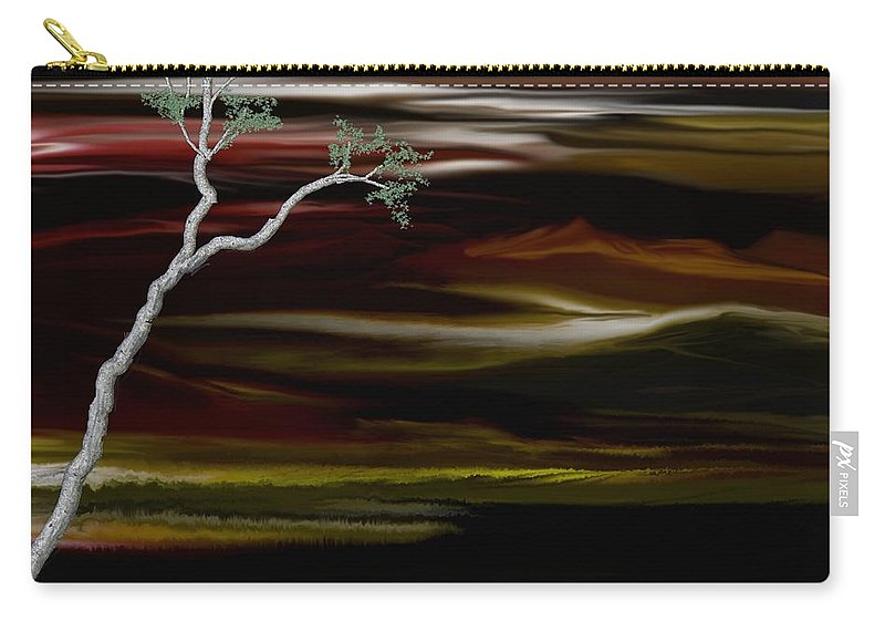 Digital Landscape Carry-all Pouch featuring the digital art Redscape by David Lane