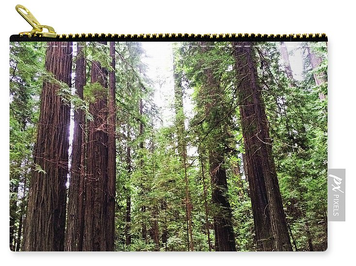 California Redwood Trees Carry-all Pouch featuring the photograph Redwood2 by George Arthur Lareau