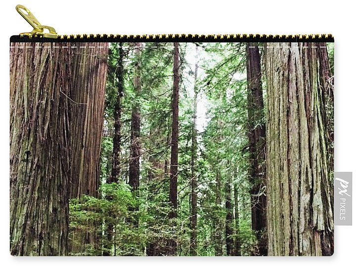 California Redwood Trees Carry-all Pouch featuring the photograph Redwood5 by George Arthur Lareau
