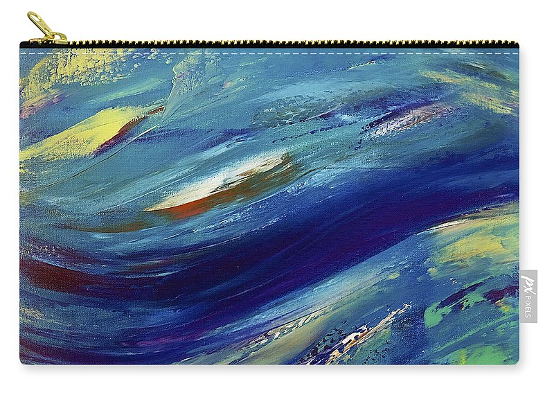 Abstract Carry-all Pouch featuring the painting Reef by Dick Bourgault