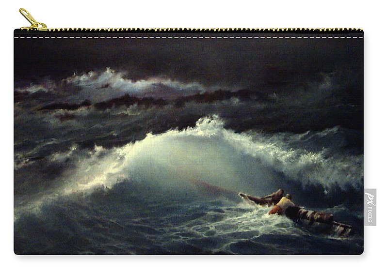 Seascape Carry-all Pouch featuring the painting Reef by Mikhail Savchenko