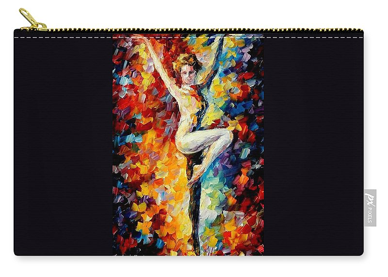 Painting Carry-all Pouch featuring the painting Refinement by Leonid Afremov