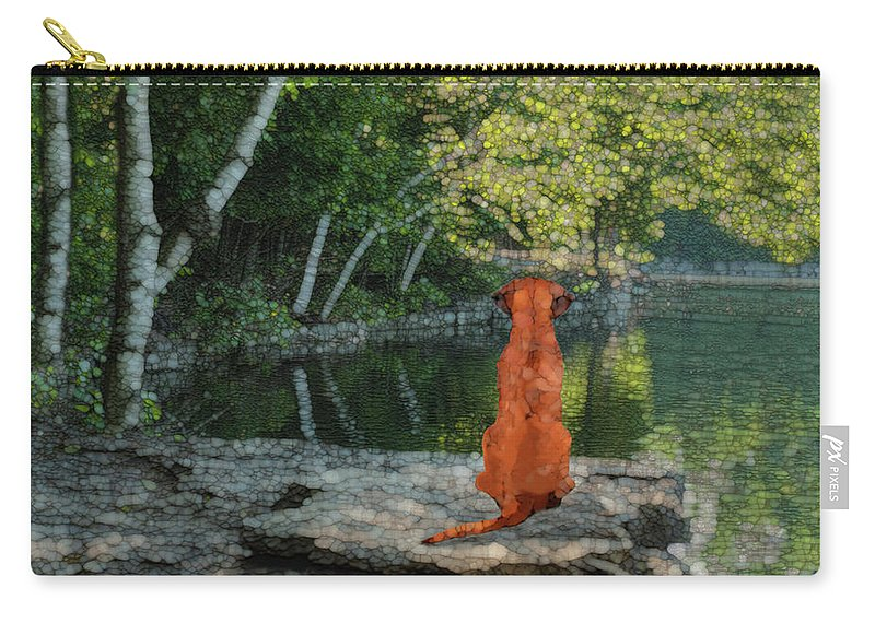 Reflect Carry-all Pouch featuring the painting Reflecting by Jack Zulli
