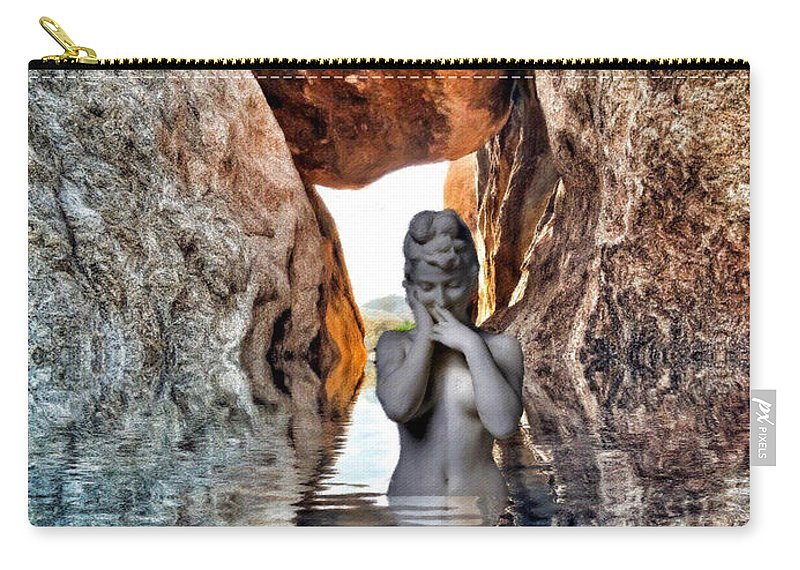 Woman Carry-all Pouch featuring the digital art Reflecting Self by Snake Jagger