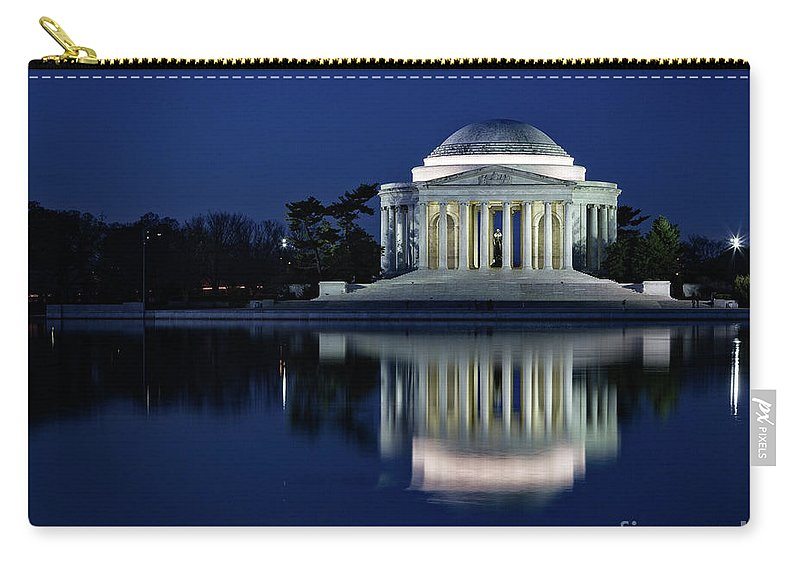 Washington Carry-all Pouch featuring the photograph Reflection At Blue Hour by Izet Kapetanovic