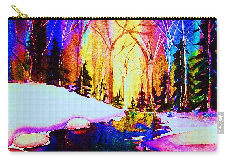 Reflections Carry-all Pouch featuring the painting Reflection by Carole Spandau