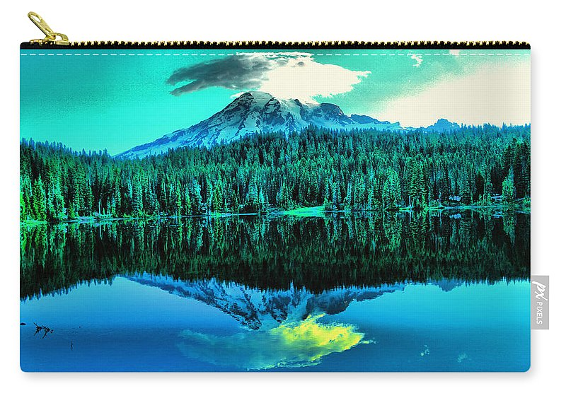 Reflection Lake Carry-all Pouch featuring the photograph Reflection Lake by Jeff Swan