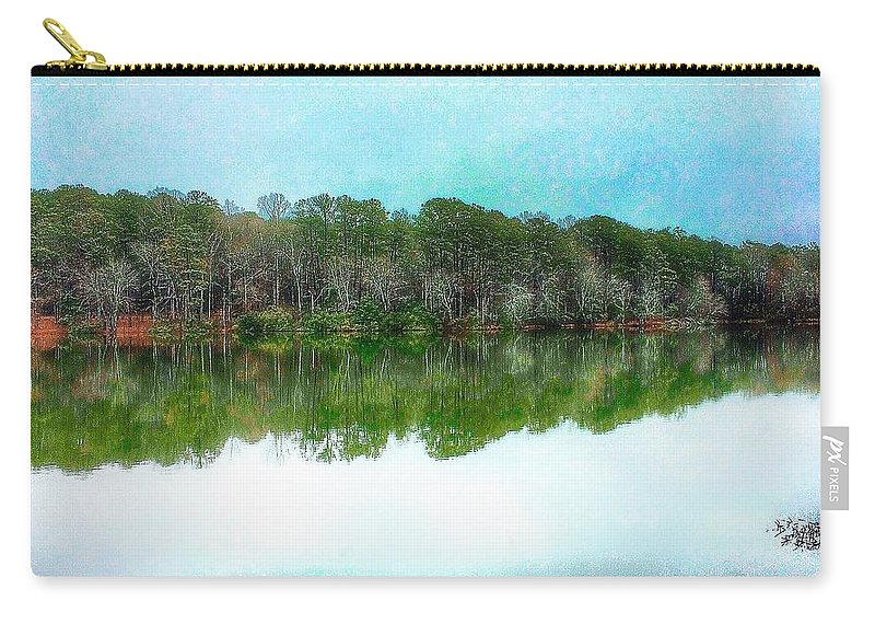 Lake Carry-all Pouch featuring the photograph Reflection Lake by Paul Wilford
