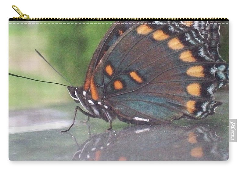 Reflection Carry-all Pouch featuring the photograph Reflection Of Beauty by Sandra McClure