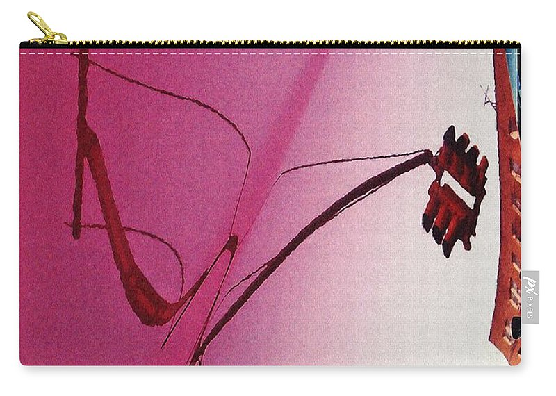 Car Carry-all Pouch featuring the photograph Reflection On A Red Automobile by Sarah Loft