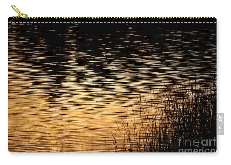 Digital Photo Carry-all Pouch featuring the photograph Reflection On A Sunset by David Lane