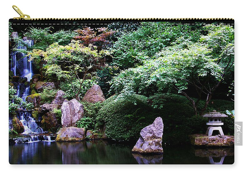 Reflection Carry-all Pouch featuring the photograph Reflection Pond by Anthony Jones