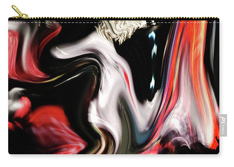 Modern Carry-all Pouch featuring the digital art Reflection by Ralf Nau