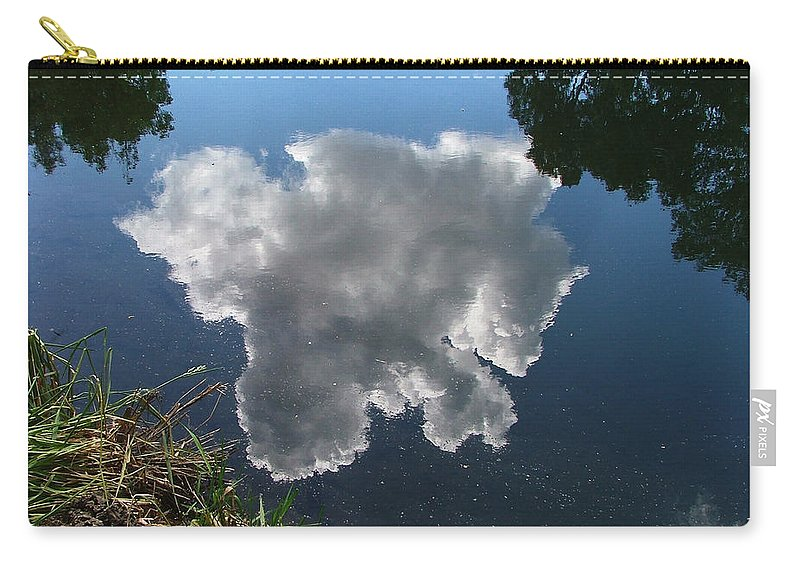 Pecos Carry-all Pouch featuring the photograph Reflection by Steven Natanson