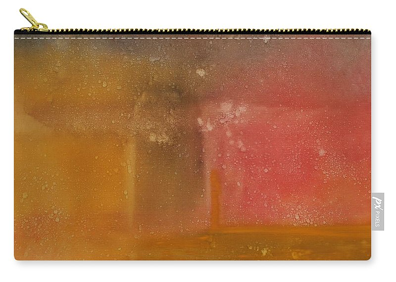 Storm Summer Red Yellow Gold Carry-all Pouch featuring the painting Reflection Summer Storm by Jack Diamond